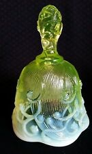 Fenton lily of the valley topaz opalescent art glass bell Rare