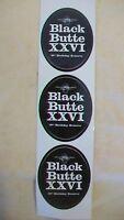 Set of 3 Stickers for Deschutes Brewery Black Butte XXVI Birthday Reserve