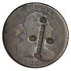 "1802 Large Cent, Counterstamp ""BRADBURY / (4 Eagles)"" (Silversmith, Newburyport)"