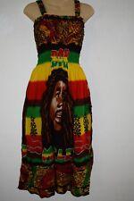 Bob Marley Dress rasta Hippie reggae boho Comfy Peasant BOB face one size
