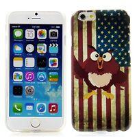 Apple iPhone 6 6S (4,7) Silikon Case Schutz Handytasche Hülle Cover USA Eule Owl