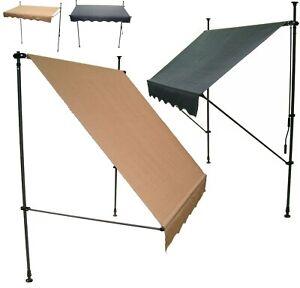 Markise Klemmmarkise Balkonmarkise Sonnenschutz Dach Sonnensegel Fenstermarkise