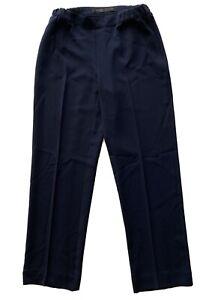 Marina Rinaldi Blue Pantalone Trousers Pants Elastic Waistline Size 13 (US4)