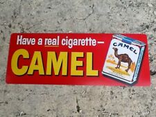 "TIN SIGN ""Camel Red"" Tobacco Cigarette Mancave Wall Decor"