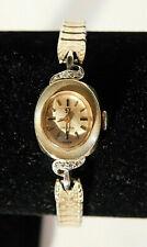 Vtg. Omega 14K Yellow Gold Women's Mechanical Watch with 8 Diamonds