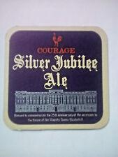 Vintage COURAGE PLC - SILVER JUBILEE ALE -  Cat No'80 Beermat / Coaster