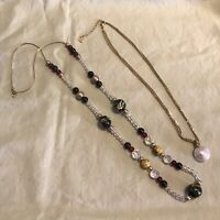 Pair Of Monet Vintage Necklaces Glass Beads Detailed Gorgeous