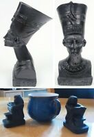 new small black Egyptian busts pair of ornament figures of egypt great gift