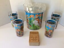Joe Camel Dual Insulated Ice Bucket + 4 Cups Bar Set From Camel Cigarettes & Box