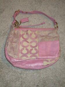 Coach Ali Pieced Patchwork Hobo Bag Purse Handbag Tote Lilac Purple