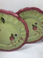 TRACY PORTER DINNER PLATES ''THE MIDNIGHT GARDEN COLLECTION''  11 1/4''