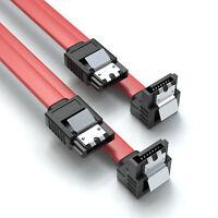 0,5m SATA-3 Kabel Rot | S-ATA 6 Gb/s High Speed SSD HDD 90° Winkel Datenkabel