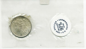 SCARCE 1899o UNCIRCULATED MORGAN SILVER DOLLAR IN SOFTPACK