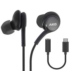 Original Samsung AKG Kopfhörer Für Samsung Galaxy S20 S21 USB-C Adapter Schwarz