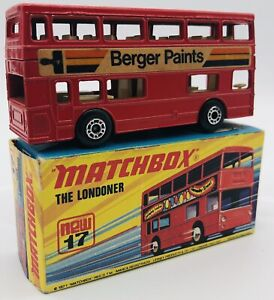 Lesney Matchbox Superfast The Londoner #17 Original Boite