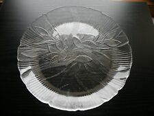 "Arcoroc Luminarc France CANTERBURY Crocus Glass Platter 10 3/4"""