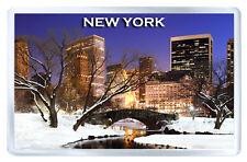 NEW YORK WINTER FRIDGE MAGNET SOUVENIR IMAN NEVERA