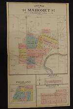 Illinois, Champaign County Map, 1913 Village of Mahomet, Foosland, Seymour O2#82
