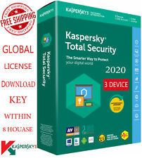 KASPERSKY TOTAL Security 2020 - 3 Device / 1 Year / Europe Area $14.54