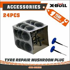 X-BULL 24xCar Vehicle 6mm Tubeless Tyre Puncture Repair Wired Mushroom Plug