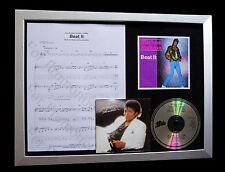 MICHAEL JACKSON Beat It LTD MUSIC CD QUALITY FRAMED DISPLAY+EXPRESS GLOBAL SHIP