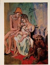 PABLO PICASSO HAND SIGNATURE * THE FAMILY OF ACROBATS WITH APE * PRINT W/ C.O.A.