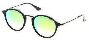 Ray-Ban Round Fleck Green Gradient Flash Sunglasses RB2447 901/4J 49-21
