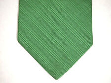 "Brooks Brothers Makers Mens Necktie Tie Green Subtle Striped 60"" 100% Silk"