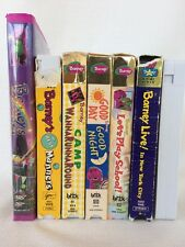 Barney and (the backyard gang) (friends) vhs lot 7 tapes