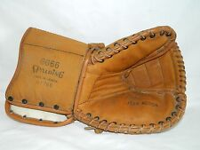Vintage Leather/Cloth Spalding GG66 Lefthand Goalie Catcher