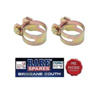 UTILUX HOSE CLAMPS (4) GOLD IN COLOUR  .97 X 2 SUIT FORD HOLDEN