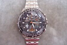 MENS CITIZEN SKYHAWK ECO DRIVE RADIO CONTROLLED WATCH WR200 METRES.
