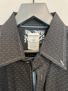 Men's Panhandle Slim Button Down Western Shirt XXL