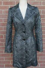 BEBE Womens Black/Gray Long Coat Jacket Blazer Size 8