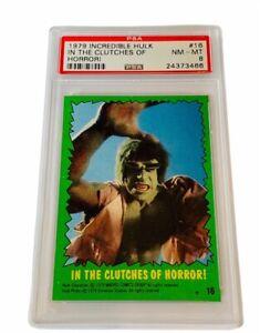 The Incredible Hulk Lou Ferrigno 1979 Topps Marvel Comics Card PSA 8 Horror #16