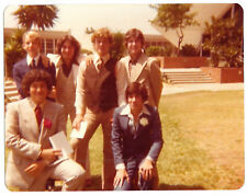 Vintage 70s PHOTO Teen Boys In Suits Dressed for Special Event