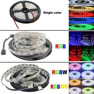 5M 5050 Blanc RGB RGBW 300 LED Bande Ruban Strip Flexible Lampe Lumière Noël 12V