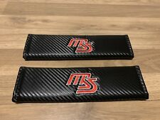 2X Seat Belt Pads Carbon Gifts Mazda 2 3 6 MX5 CX5 RX8 MS Initials Mazda Speed