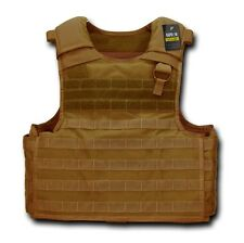 COYOTE TAN PLATE CARRIER TACTICAL US Military USMC ARMY Combat Quality MOLLE