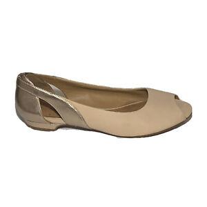 Clarks Artisan Leather Open Toe Flats Shoes. Women's 9.5.