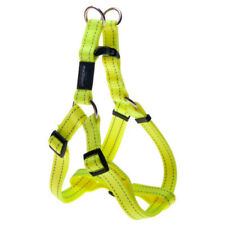 Rogz Dayglow Yellow-Step in Harness-Fanbelt-Large