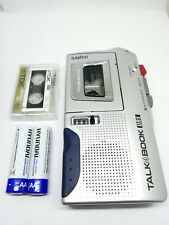 Sanyo TRC-590M MicroCassette Voice Recorder Handheld Dictaphone Dictation Silver