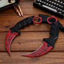 CSGO Karambit Tooth Doppler Counter Strike Claw Fixed Cs Go Knife Blade