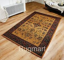 VINTAGE GOLD RED MULTI Colour Traditional Tribal Design Rug Runner S-XXL -30%OFF
