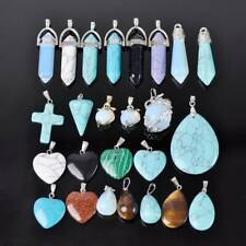 2pcs Natural Stone Gemstone Charms Pendants lot for Jewelry Necklace Making