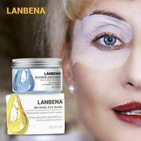 LANBENA Eye Mask Hyaluronic Acid Eye Patches Serum Reduces Dark Circles Bags