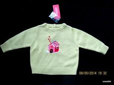 Gymboree Sugar and Spice Green Gingerbread House Sweater 6-9-12 NWT New HCTS