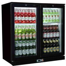 More details for hinged double 2 door back bar bottle cooler fridge ideal for pubs / restaurant