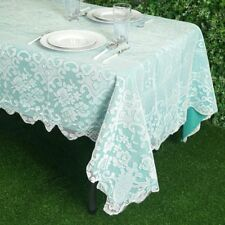 IVORY 60x108 RECTANGLE Floral LACE TABLECLOTH Wedding Party Catering Kitchen