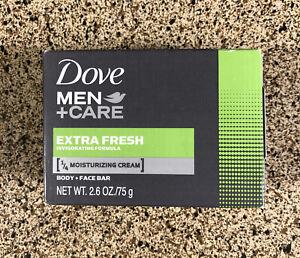 Dove Men Care Extra Fresh Moisturizing Cream Body & Face Bar 2.6 oz